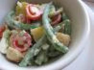 Potato-Green Bean Salad With Cucumber Dressing