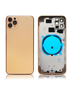 iPhone 11 Pro Max Back Housing without logo High Quality Gold