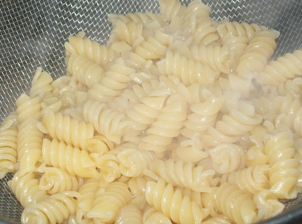 Boil the pasta for about 6 to 7 minutes, in salted water. Keep out...