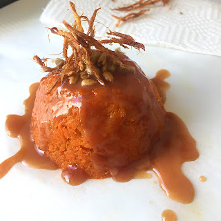 A Canadian Whiskey Caramel Sauce and an Indian Carrot Pudding