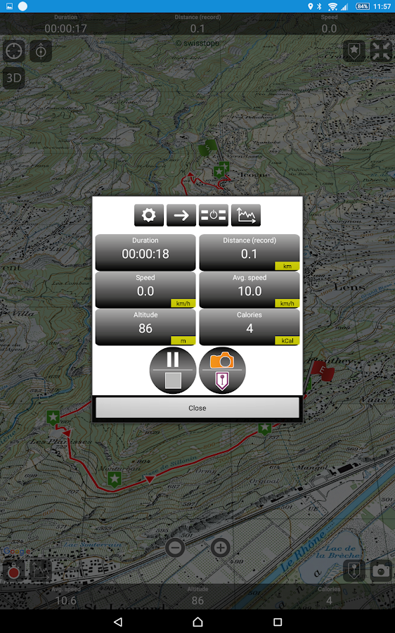 SityTrail Switzerland - hiking- screenshot