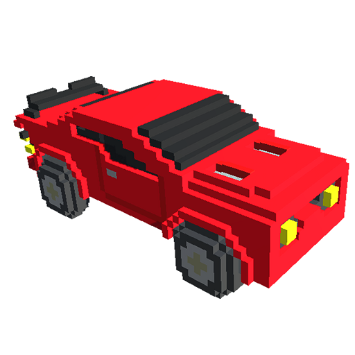 Cars 3d Color By Number Voxel Puzzle Coloring