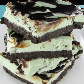 No-Bake Mint Oreo Bars.