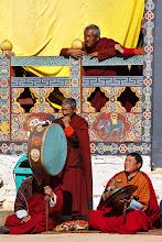 Photo: Musicians at the Black Necked Crane festival. Phobjikha, Bhutan
