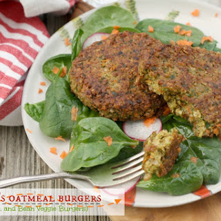 Oat, Farro, and Bean Veggie Burgers