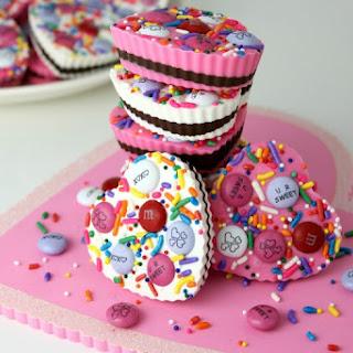Candy Hearts with Dark Chocolate Recipe