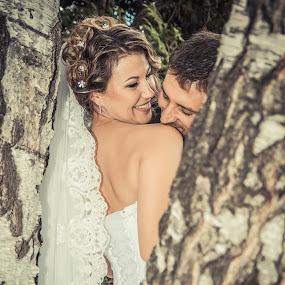 love bloom by Iana Udrea - Wedding Bride & Groom ( love, wedding, trees, bride, groom )