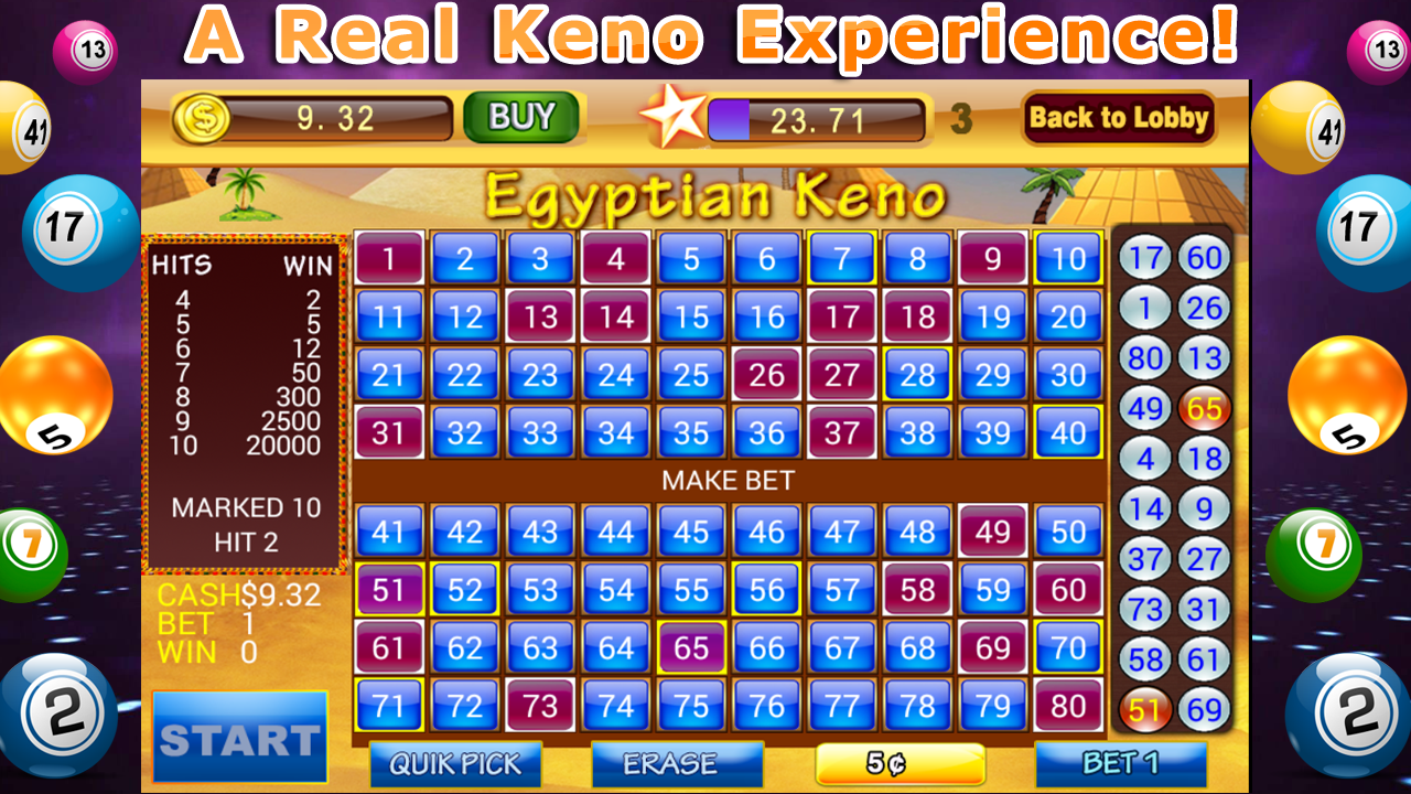 Power keno slots