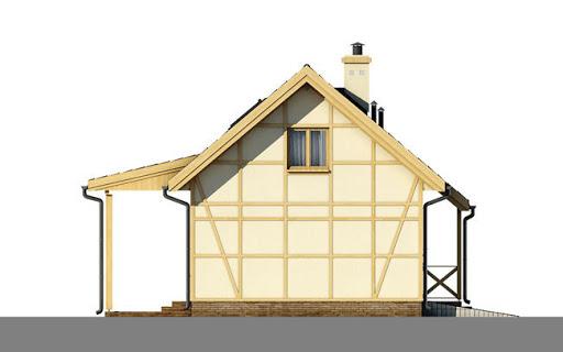 D199 - Paula wersja drewniana - Elewacja lewa