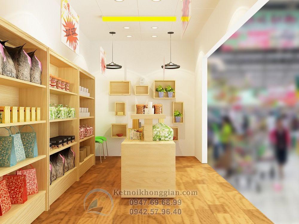 thiết kế gian hàng siêu thị ấn tượng