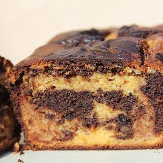 Orange Marble Cake (Almond Flour)