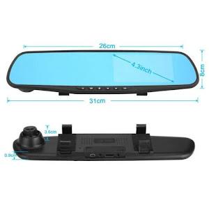 Oglinda auto cu camera fata-spate, rezolutie HD, display 3.5 inch