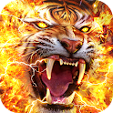 Flame Tiger Live Wallpaper icon