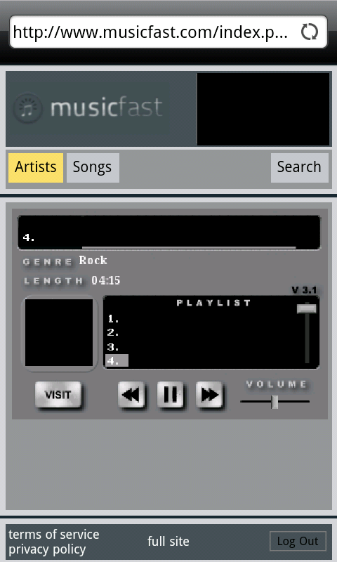 Music Fast Free Version- screenshot