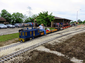 Photo: George Leventon backing the wheel chair car into place.    HALS Public Run Day 2015-0418 RPW