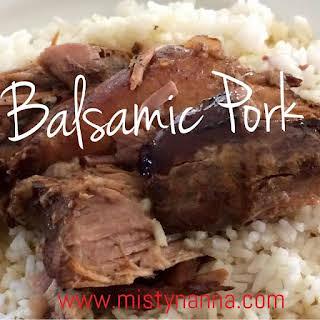 Crock Pot Balsamic Pork Roast.