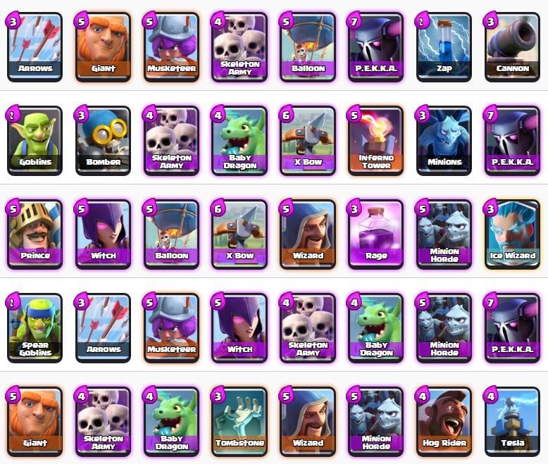 Migliori Mazzi Arena 5 Clash Royale (Valle degli incantesimi)