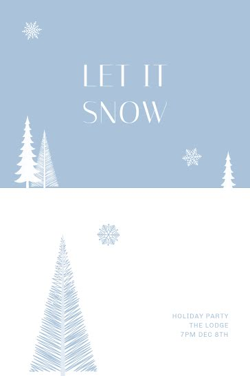 Let It Snow Holiday - Christmas Template