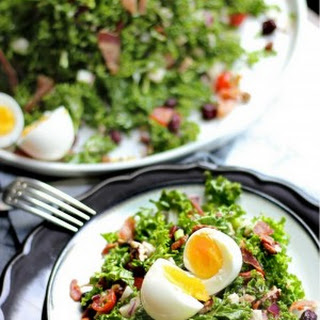 King Kale Salad with Bacon and 7-minute Egg