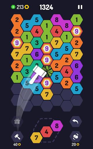 UP 9 - Hexa Puzzle! Merge Numbers to get 9 apkdebit screenshots 10