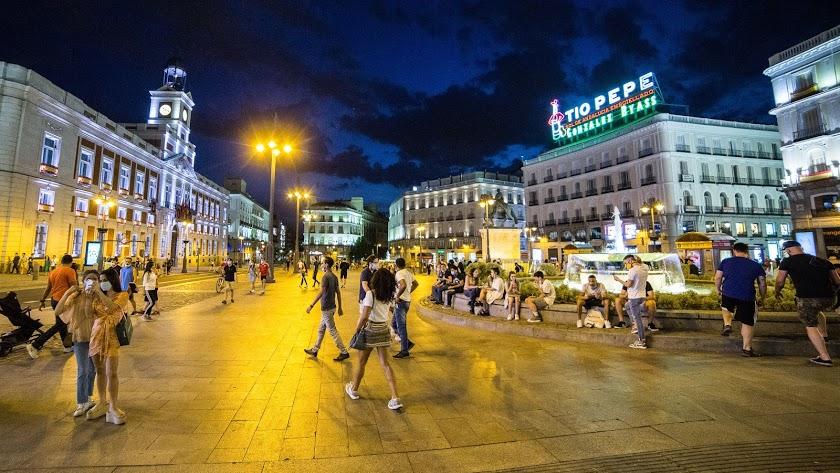 Imagen de archivo del centro de Madrid.