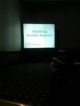 Photo: This was a depressing talk.  Journals proud of their 75-week average submission-to-print cycle.