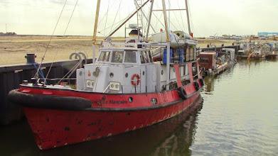 Photo: Le Rameur des Glaces arrive à Nome, Alaska à bord du Manguier remorqueur d'expéditions