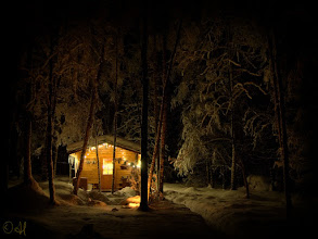 Photo: Cabin in the Snowy Woods