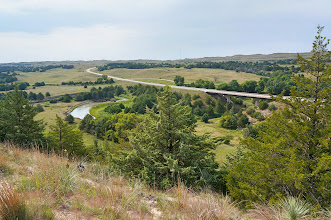 Photo: Our first stop was in the heart of the Sandhills, where Highway 83 crosses the Dismal River.