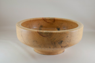 "Photo: Phil Brown 13 1/4"" x 5 1/2"" salad bowl [Box Elder]"