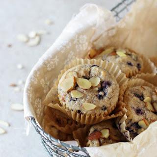 Blueberry Almond Whole Grain Muffins Recipe