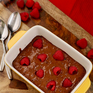 (Healthier) Raspberry Brownies for Two.