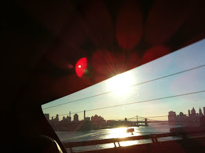 Photo: Cab ride into the city