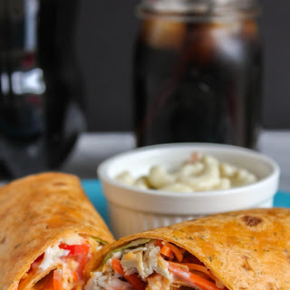 Effortless Chicken & Veggie Ranch Wraps