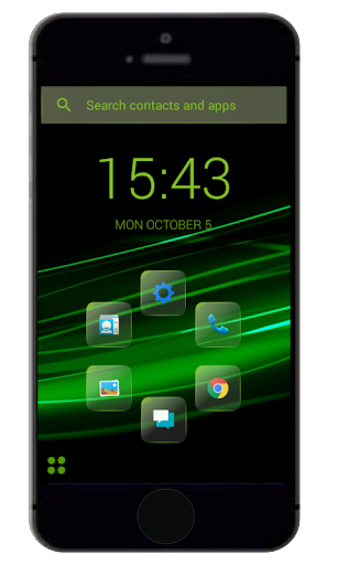 Green Glass SmartLauncherTheme