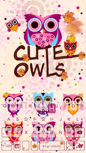 Cute Owls For Emoji iKeyboard