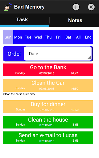 Bad Memory: notes and tasks 1.4 androidtablet.us 2