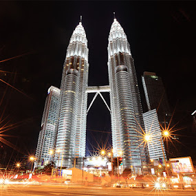 Twin Tower Sparkling by Liang Deoz - Buildings & Architecture Architectural Detail