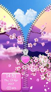 Zip zamek obrazovky kvetiny - náhled