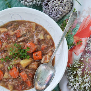 Lamb & Root Vegetable English Stew – #SoupSwappers.