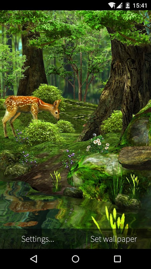 3d deernature live wallpaper android apps on google play