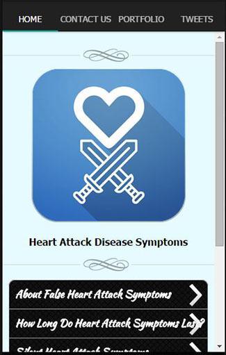 心臓発作疾患の症状