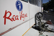 A father and a child died after a Rea Vaya bus ploughed into their motorcycle at Empire road in Parktown, Johannesburg