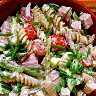 Ham And Vegetable Pasta Salad