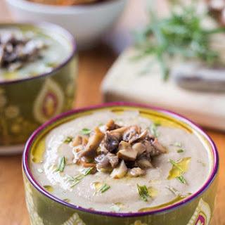 Vegan Cream of Mushroom Soup.