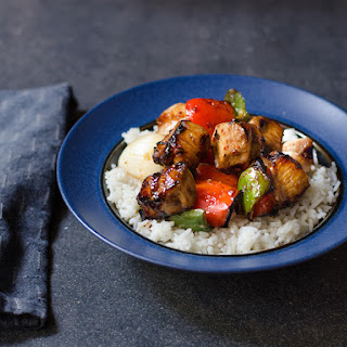 Chicken or Portobello Skewers with Nobu's Teriyaki Sauce