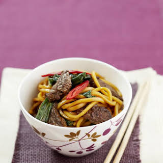 Beef and Chinese Cabbage with Noodles.