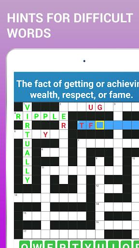 Crossword Puzzle Free Classic Word Game Offline screenshots 11
