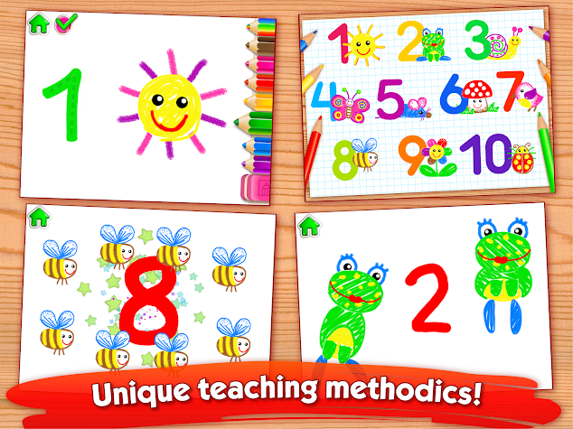 123 Draw Counting for Kids Kindergarten Math Games Screenshot