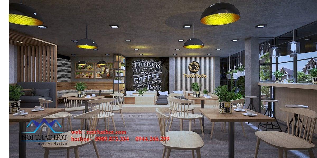 thiết kế quán trà sữa đồ ăn nhanh